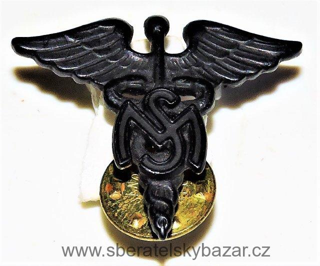 US Army Officer Collar Device: Medical Service Corps